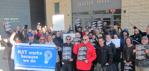 Adjunct Faculty Contract Rally 11/0817